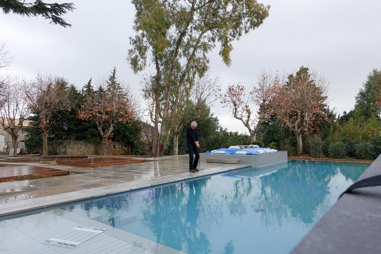 Fin de travaux sur la piscine du Château d'Autignac (34)