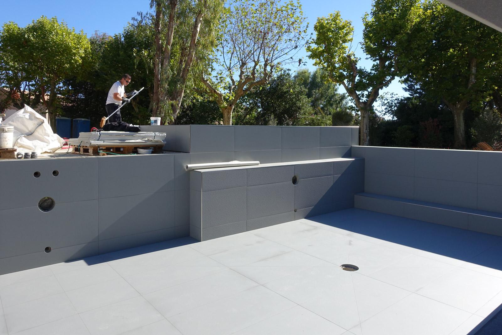 Construction d'une piscine pour une chambre d'hôte à Autignac